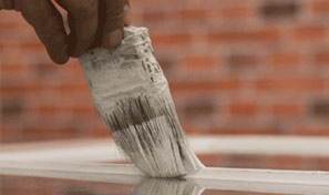 Sash window painting services